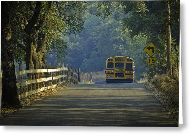 Greeting Card featuring the photograph Off To School by Sherri Meyer