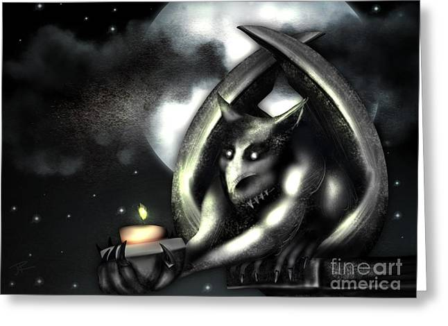Offering Greeting Card by J Kinion