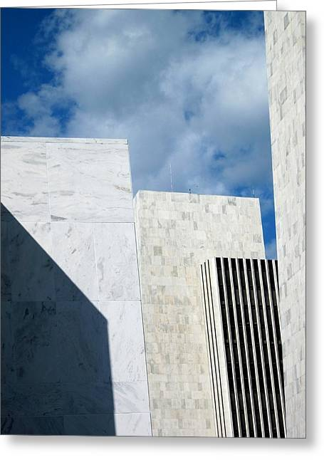 Greeting Card featuring the photograph Office Building Abstract by Mary Bedy
