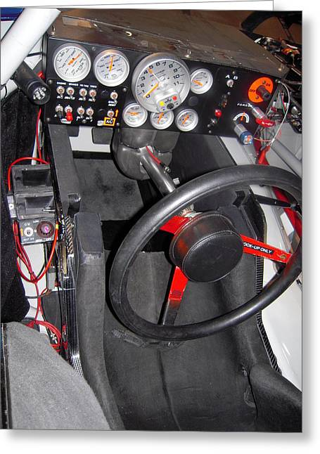 Office For A Race Driver Greeting Card