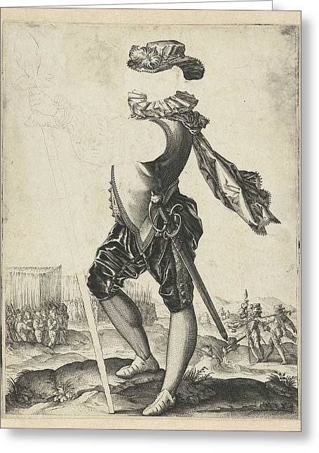 Officer In The Army, Hendrick Goltzius Greeting Card