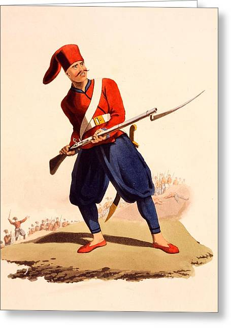 Officer Of European Infantry Of Ottoman Greeting Card