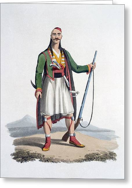 Officer Of The Spahis, 1818 Greeting Card by English School