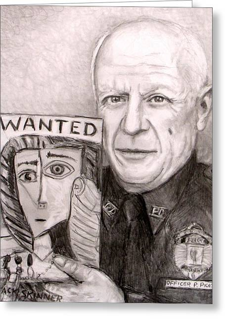 Officer Picasso Police Sketch Artist Greeting Card