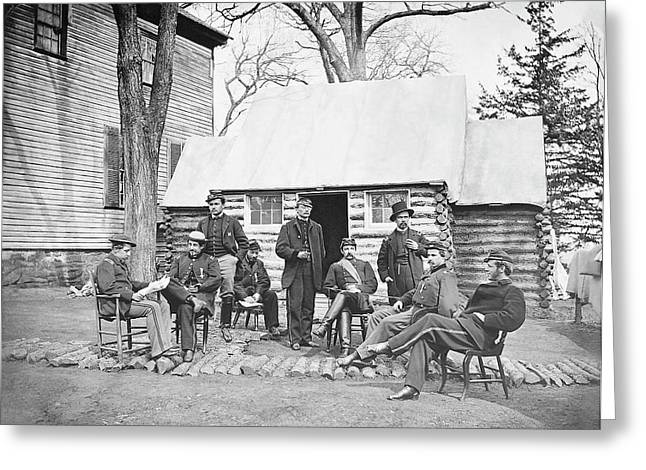 Officers At Headquarters Of 6th Army Greeting Card by Stocktrek Images