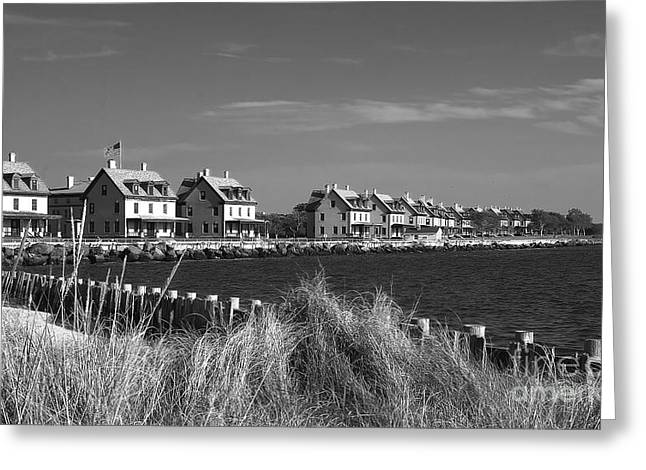 Officers Row - Sandy Hook Greeting Card
