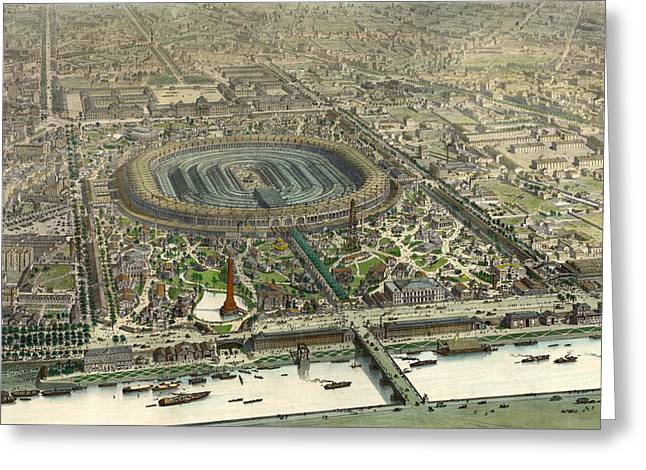 Official Birds Eye View Expo 1867, Paris Greeting Card by Litz Collection