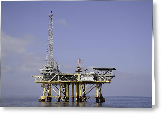 Greeting Card featuring the photograph Offshore Gas Platform by Bradford Martin