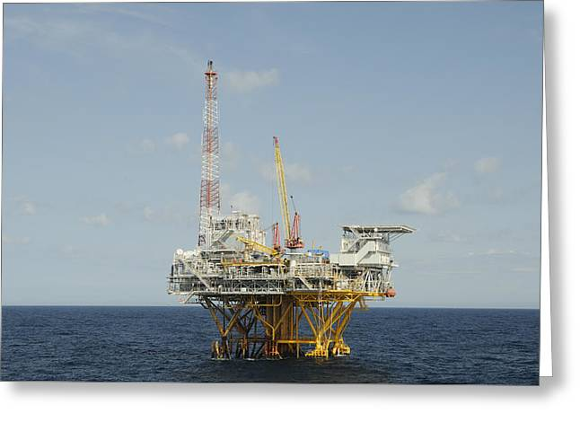 Offshore Natural Gas Platform Greeting Card