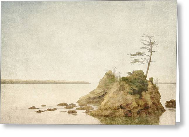 Offshore Rocks Oregon Coast Greeting Card by Carol Leigh