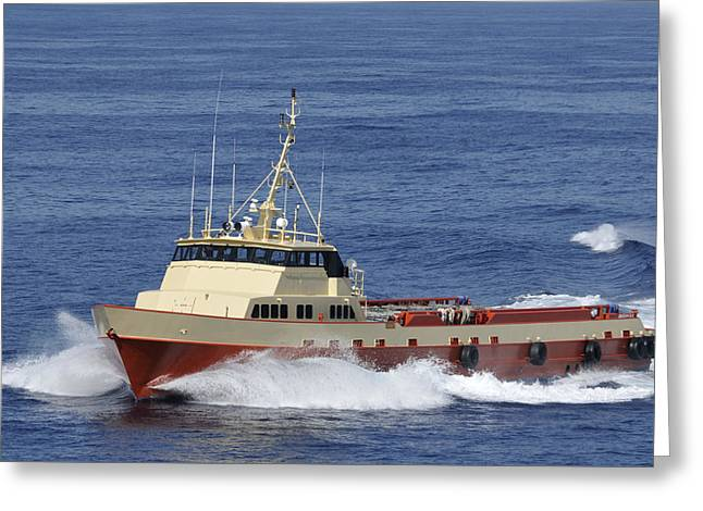 Offshore Supply Vessel Greeting Card