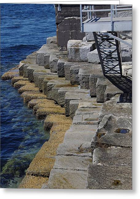 Ogden Point Breakwater Greeting Card by Marilyn Wilson