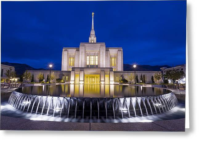 Ogden Temple II Greeting Card