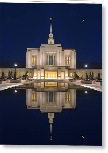 Ogden Temple Reflection Greeting Card