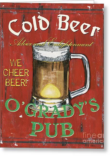 O'grady's Pub Greeting Card by Debbie DeWitt