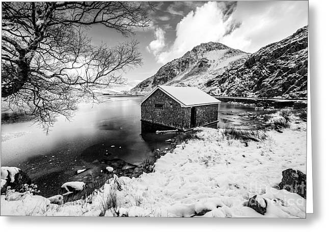Ogwen Boat House V2 Greeting Card by Adrian Evans