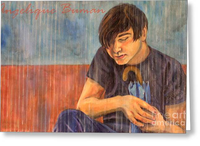Greeting Card featuring the painting Oh Brother by Angelique Bowman