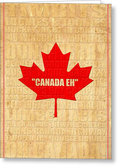 Oh Canada Greeting Card