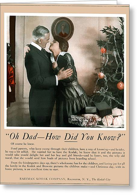 Oh Dad How Did You Know? 1917. Greeting Card