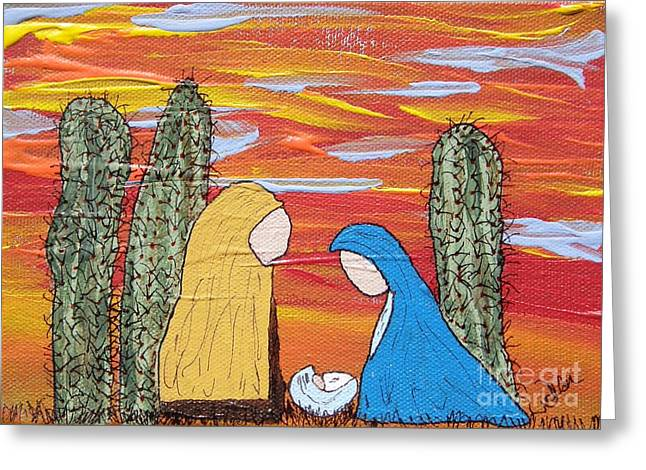 Oh Holy Desert Night Greeting Card by Marcia Weller-Wenbert