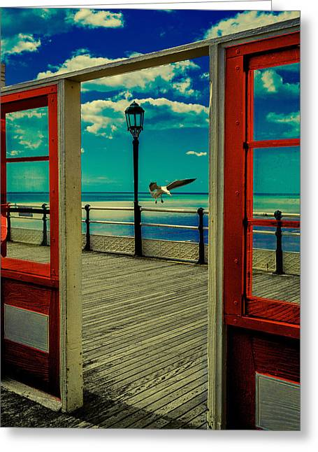 Oh I Do Like To Be Beside The Seaside Greeting Card by Chris Lord