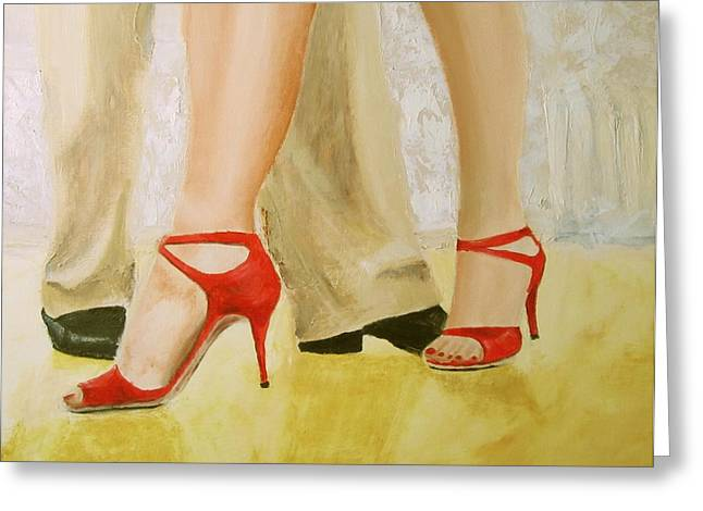 Oh Those Red Shoes Greeting Card