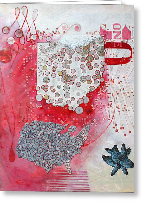 Oh10 Greeting Card by Sandra Cohen