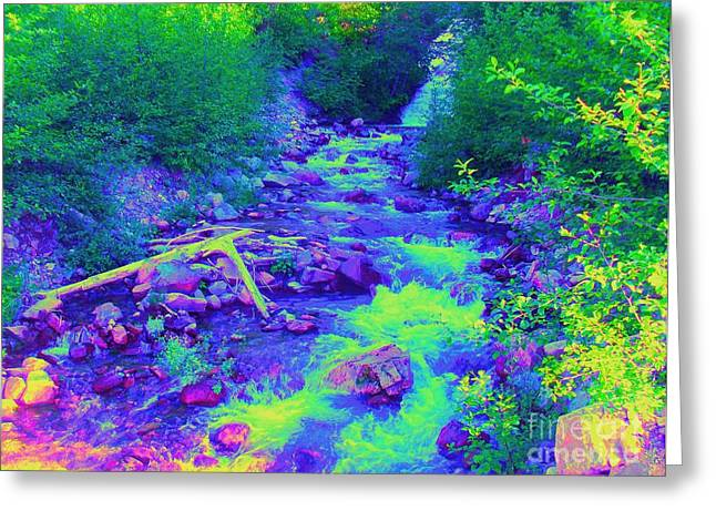 Greeting Card featuring the photograph Ohanapecosh River by Ann Johndro-Collins