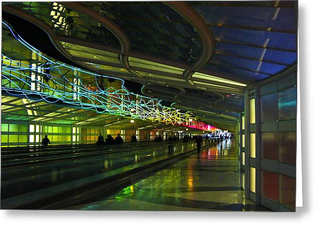Greeting Card featuring the photograph O'hare Color by Rhonda McDougall
