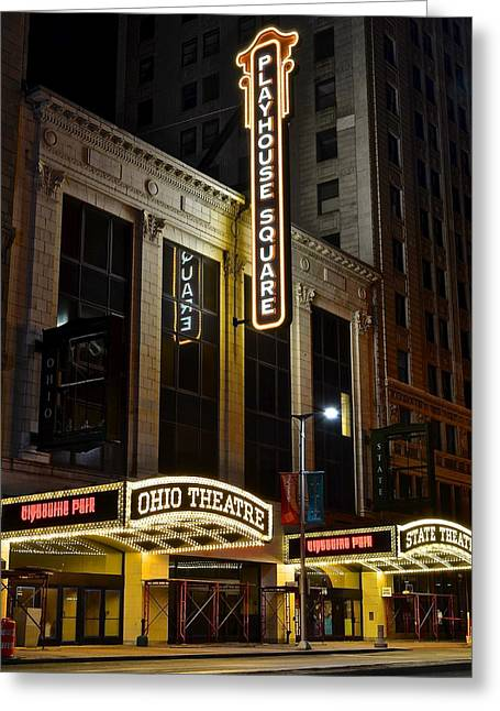 Ohio And State Theaters Greeting Card by Frozen in Time Fine Art Photography