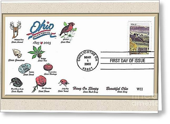 Ohio  Bicentennial Cover #1 Greeting Card by Charles Robinson