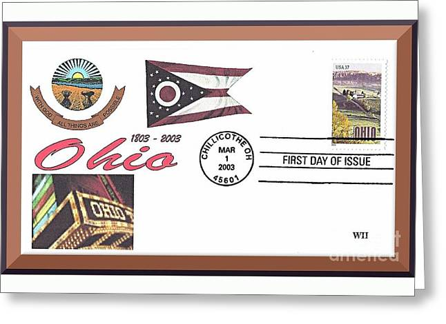 Ohio Bicentennial Cover #2 Greeting Card