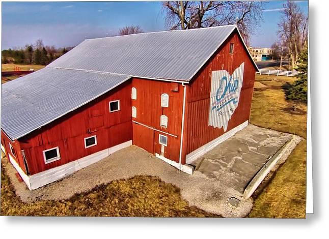 Ohio Red Barn Greeting Card