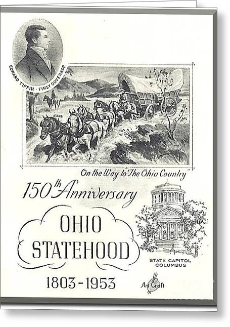Ohio Sesquicentennial Poster Greeting Card by Charles Robinson