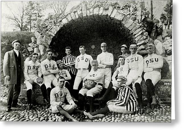 Ohio State Football Circa 1890 Greeting Card by Jon Neidert