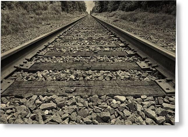 Ohio Train Tracks Greeting Card by Dan Sproul