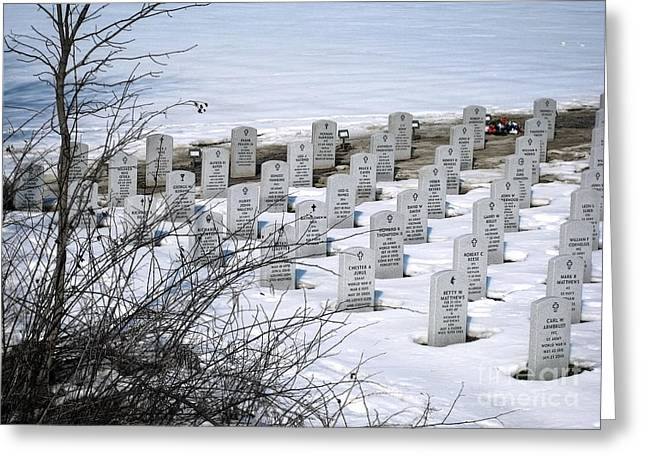 Ohio Western Reserve National Cemetary Greeting Card by Ellen Cotton