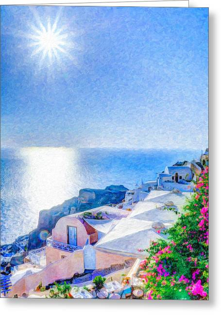 Oia Santorini Grk4178 Greeting Card