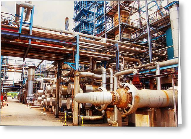 Oil And Gas Refinery Engineering And Technology Greeting Card