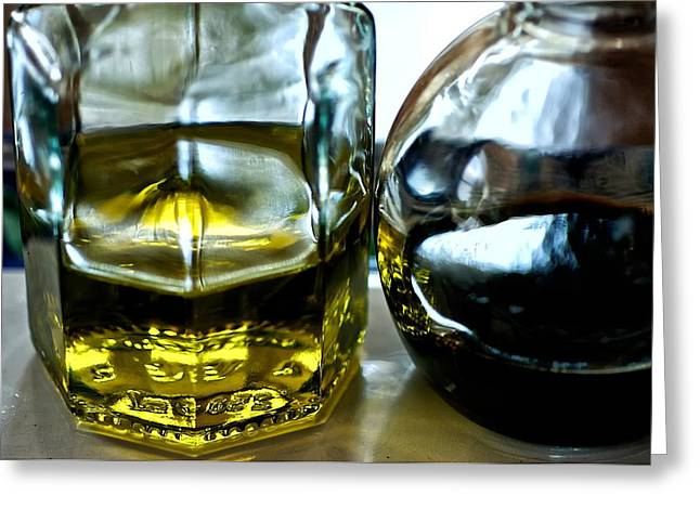 Oil And Vinegar 2 Greeting Card by Guillermo Hakim