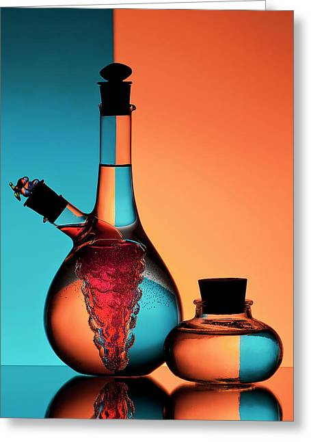 Oil And Vinegar Greeting Card by Aida Ianeva