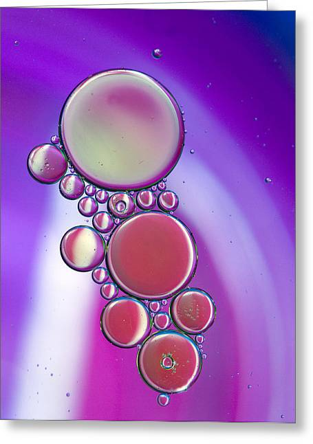 Oil And Water 19 Greeting Card by Rebecca Cozart