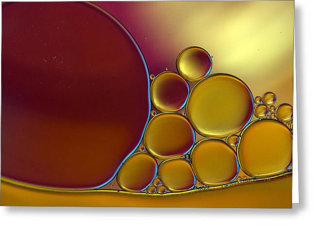 Oil And Water 23 Greeting Card by Rebecca Cozart