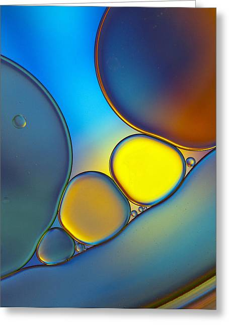 Oil And Water 24 Greeting Card by Rebecca Cozart