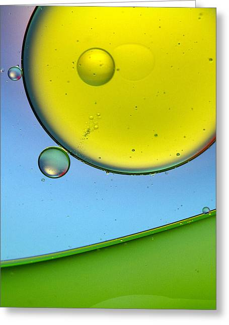 Oil And Water 26 Greeting Card by Rebecca Cozart