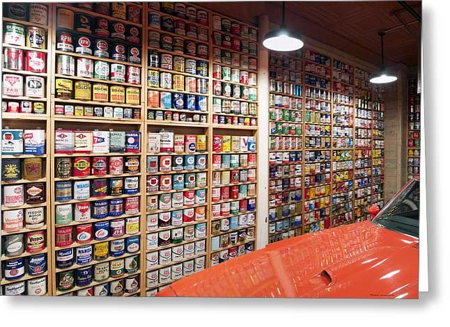 Oil Can Collection Greeting Card by Thomas Woolworth
