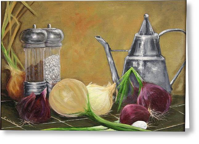 Oil Can Still Life Greeting Card