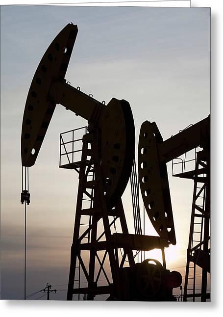 Oil Field In Daqing Greeting Card