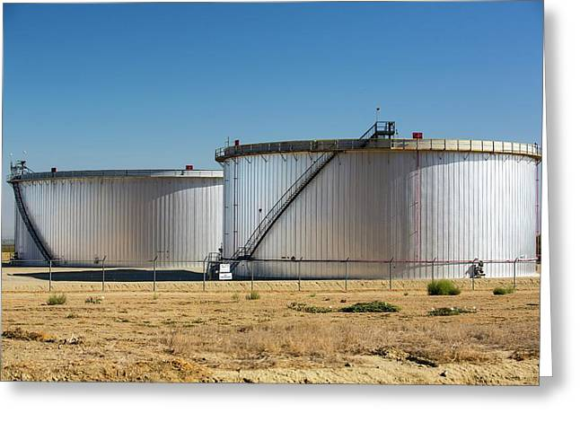 Oil Field Infrastructure Greeting Card by Ashley Cooper