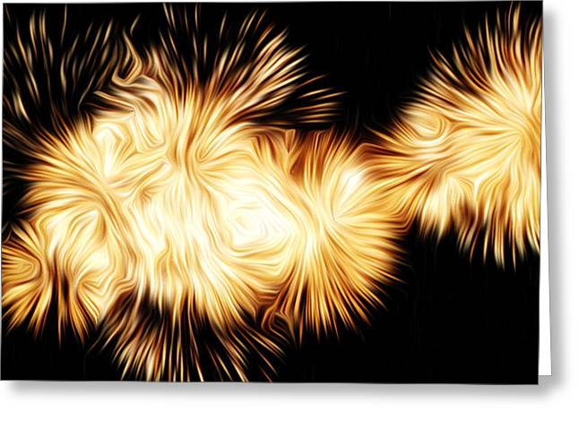 Oil Fireworks Greeting Card by Stefan Petrovici
